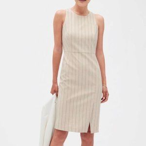 Banana Republic Pinstripe Sheath Dress 2P
